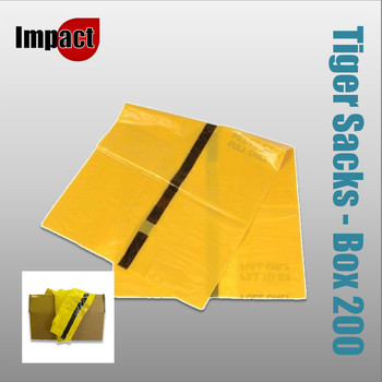 Tiger Sacks, Yellow/Black - Case 200