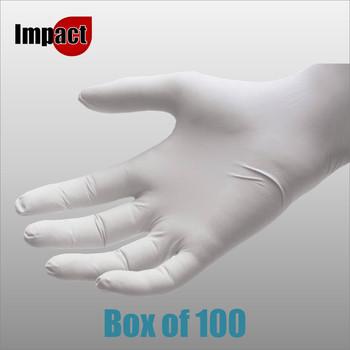Nitrile Disposable Gloves Powder Free, White - Box 100