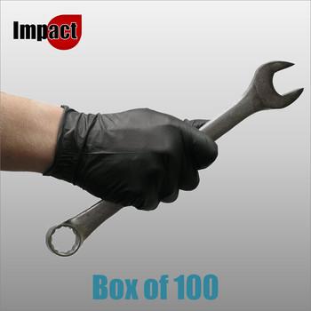 Nitrile Disposable Gloves Powder Free, Black - Box 100