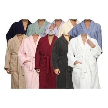 Superior 100% Egyptian Terry Cotton Unisex Bath Robe