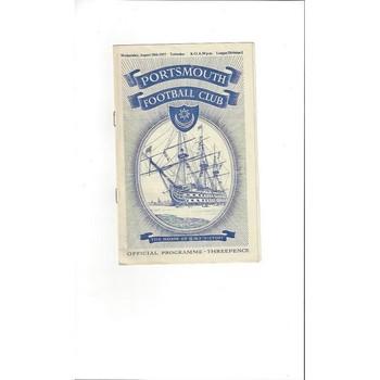1957/58 Portsmouth v Tottenham Hotspur Football Programme