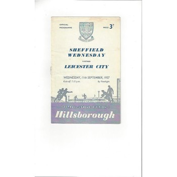 1957/58 Sheffield Wednesday v Leicester City Football Programme