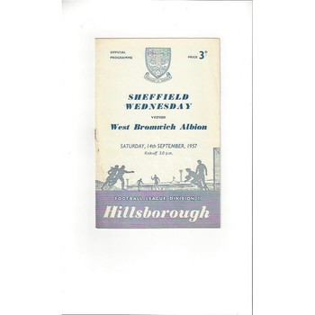 1957/58 Sheffield Wednesday v West Bromwich Albion Football Programme