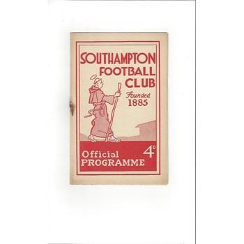 1959/60 Southampton v Halifax Town Football Programme