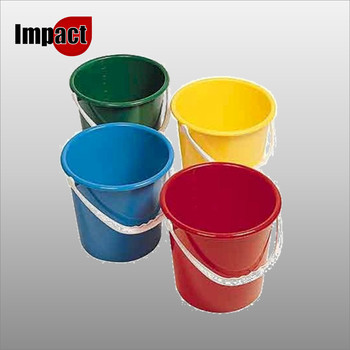 Round Plastic Bucket - Blue, Red, Green or Yellow