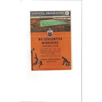 1959/60 Wolves v Newcastle United Football Programme