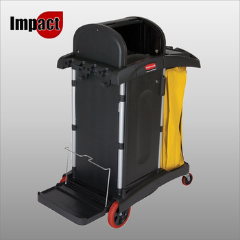 Rubbermaid High Security Cleaning Cart - FG9T7500BLA