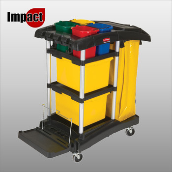 Rubbermaid Microfibre Cleaning Cart - FG9T7400BLA