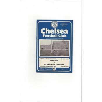 1962/63 Chelsea v Plymouth Argyle Football Programme