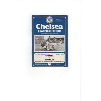 Chelsea v Burnley 1963/64