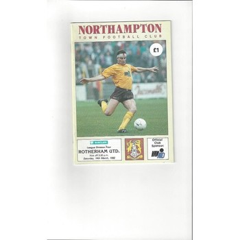 1991/92 Northampton Town v Rotherham United Football Programme