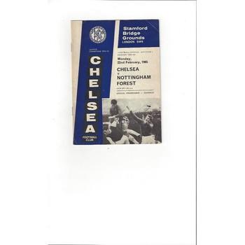 Chelsea v Nottingham Forest 1964/65