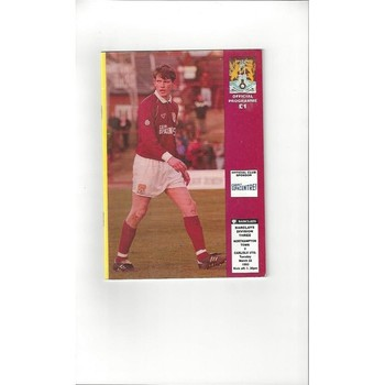 1992/93 Northampton Town v Carlisle United Football Programme