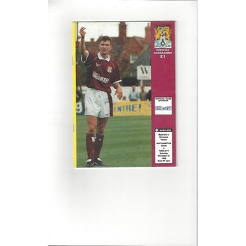 1992/93 Northampton Town v York City Football Programme Autographed