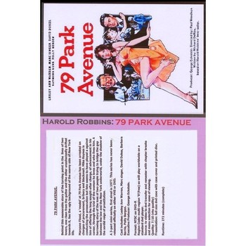 79 PARK AVENUE. (1977)TV MINI SERIES. HAROLD ROBBINS