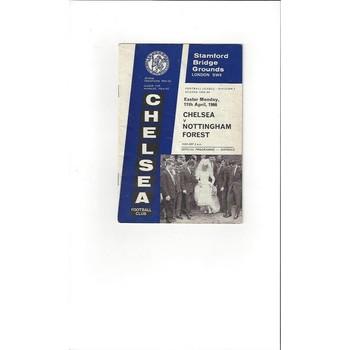 Chelsea v Nottingham Forest 1965/66
