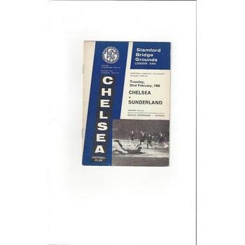 Chelsea v Sunderland 1965/66