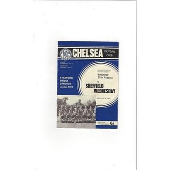 Chelsea v Sheffield Wednesday 1966/67