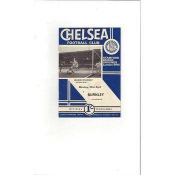 Chelsea v Burnley 1967/68