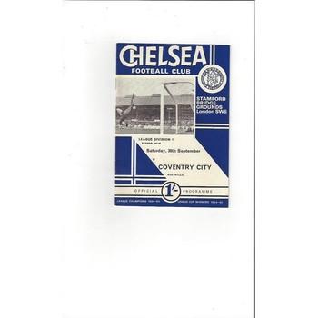 Chelsea v Coventry City 1967/68