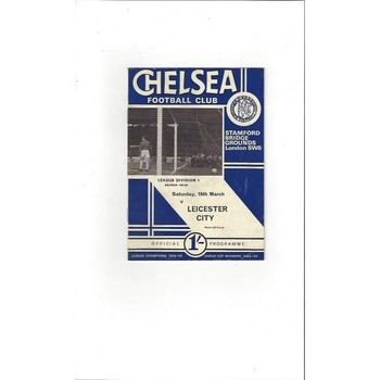 Chelsea v Leicester City 1967/68