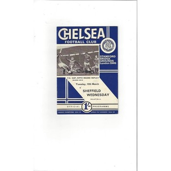 Chelsea v Sheffield Wednesday FA Cup Replay 1967/68