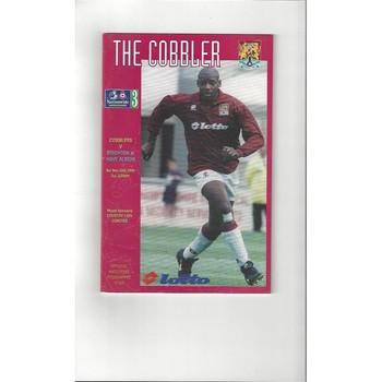 1996/97 Northampton Town v Brighton Football Programme