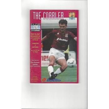 1996/97 Northampton Town v Watford FA Cup Football Programme