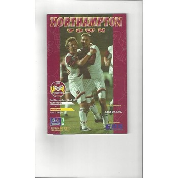 1997/98 Northampton Town v Watford Football Programme