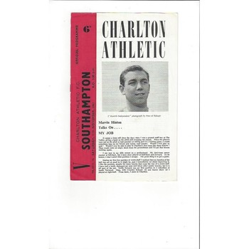 1961/62 Charlton Athletic v Southampton Football Programme