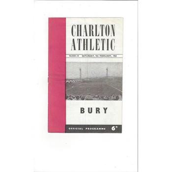 Charlton Athletic v Bury 1962/63