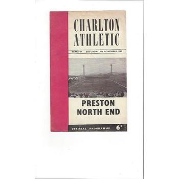 Charlton Athletic v Preston 1962/63