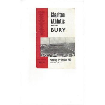 Charlton Athletic v Bury 1963/64