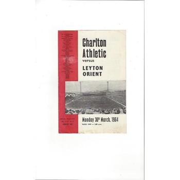 Charlton Athletic v Leyton Orient 1963/64