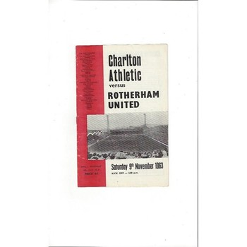 1963/64 Charlton Athletic v Rotherham United Football Programme