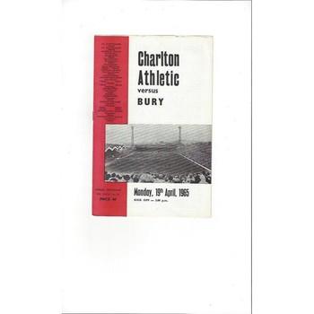 Charlton Athletic v Bury 1964/65