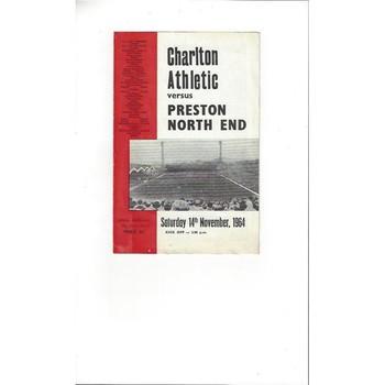 Charlton Athletic v Preston 1964/65