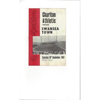 1964/65 Charlton Athletic v Swansea Football Programme
