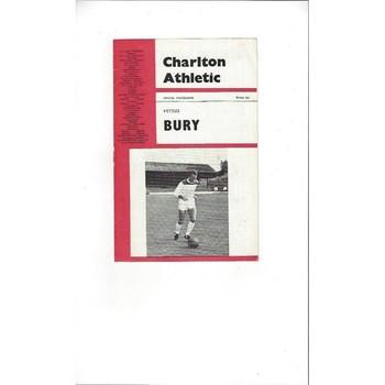 Charlton Athletic v Bury 1965/66