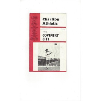 1965/66 Charlton Athletic v Coventry City Football Programme