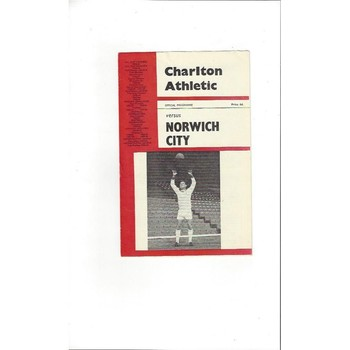 1965/66 Charlton Athletic v Norwich City Football Programme Nov.