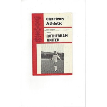 Charlton Athletic v Rotherham United 1965/66
