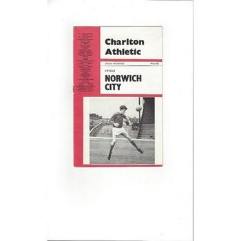 Charlton Athletic v Norwich City 1966/67