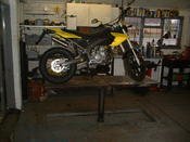 Motorcycle in Workshop