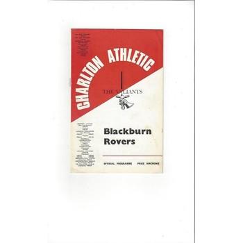 Charlton Athletic v Blackburn Rovers 1967/68