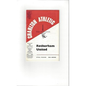 Charlton Athletic v Rotherham United 1967/68 + League Reivew