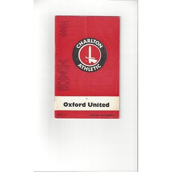 1968/69 Charlton Athletic v Oxford United Football Programme + League Review
