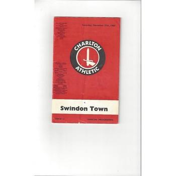 Charlton Athletic v Swindon Town 1969/70 + League Reivew