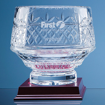 Lead Crystal Panelled Heeled Bowl (18cm)
