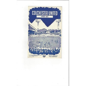 1961/62 Colchester United v Accrington Stanley Football Programme
